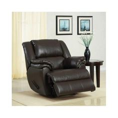Leather Recliner Chair Rocker Lazy Lounger Armchair Living Room Furniture  Brown #Ashford #Contemporary