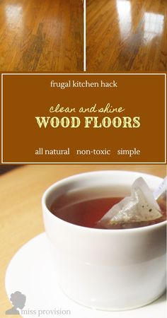 Fast, free kitchen hack to shine damaged and dull wooden floors. Works on hardwood and engineered wood. Make your kitchen floors shine naturally!