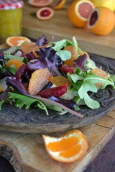 Mixed Citrus Salad with Lemon Vinaigrette by theviewfromgreatisland #Salad #Citrus