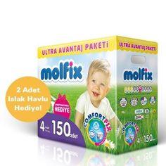 Molfix Comfort Fix Ultra Avantaj Paketi Maxi (7-14 Kg) 150 Adet