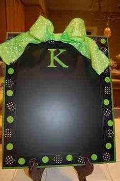 Cookie sheet, chalkboard paint and decorations.