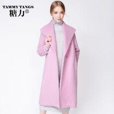 Sweet Polo Collar Extra Long Wool Wool Coat Overcoat - OACHY The Boutique #wool, #collar, #long, #overcoat, #oachy