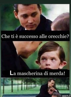 Funny Images, Funny Pictures, Dankest Memes, Jokes, Italian Memes, Im Stupid, Funny Scenes, Funny Phrases, Funny Messages