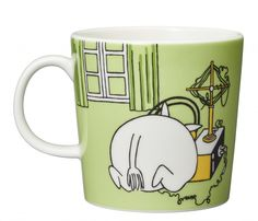 Moomintroll Mug green by Arabia - The Official Moomin Shop Moomin Shop, Moomin Mugs, Les Moomins, Moomin Valley, Local Activities, Tove Jansson, Save The Children, Porcelain Mugs, New Green
