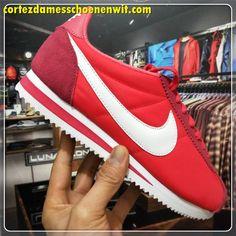 huge discount b4027 91f6e Nike Classic Cortez 807472-100 Nylon Herenschoenen Rood Wit