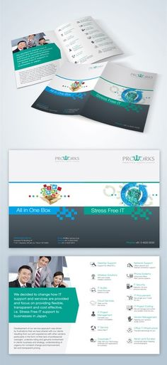 Brochure for IT related company to display our services by Emanuel Dumitrescu