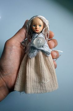 Hand carved wooden doll head and fabric jointed by MonkEyGstudio