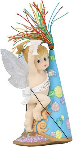 """Cheers Fairie Holiday Fairie Figurine 5.5""""H x 3""""W My Little Kitchen Fairies is an adorable line of mischievous fairies. Happy New Year!"""