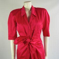 Vintage Thierry Mugler Summer Shirt Dress 1980s