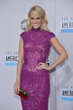 AMAs 2012 Red Carpet - Carrie Underwood