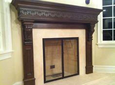Custom fireplace made by Zoltek Design. Please visit www.zoltekdesign.com