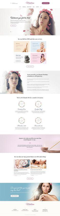 Spa & Skincare #Wordpress #template. #themes #business #responsive #Wordpressthemes