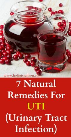 7 Natural Remedies For UTI (Urinary Tract Infection)