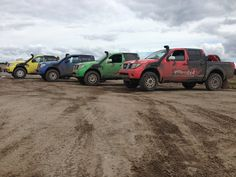 Nissan Navara Yellow, Blue, Green, Red