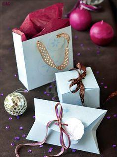 3 boîtes pour cadeaux gourmands – Explications & gabarits