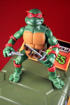 My Raphael figure from the 2012 Teenage Mutant Ninja Turtles (TMNT) Classic Collection.