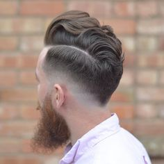 Low fade, pompadour