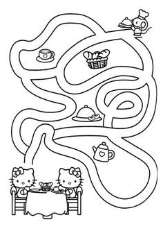 Free, printable Hello Kitty coloring pages, party invitations, activity sheets and paper crafts for Hello Kitty fans the world over! Printable Coloring Pages, Coloring Pages For Kids, Coloring Books, Kitty Party, Anniversaire Hello Kitty, Hello Kitty Crafts, Hello Kitty Colouring Pages, Valentines Day Coloring Page, Butterfly Coloring Page