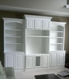 Doug Bolt Woodworking: Built-In Bookcase and matching Entertainment Center