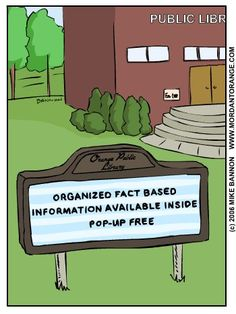 Public Libraries: Organized Fact Based Information Available Inside Pop-Up Free