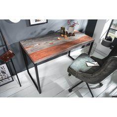 ELEMENTS tömör rózsafa íróasztal - 118cm Office Table Design, Office Desk, Corner Desk, Solid Wood, Interior, Furniture, Home Decor, Products, Environment