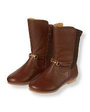 Janie & Jack Derby Darling Leather Riding Boot size 8