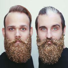 Barba com brilhantes e purpurinas... a nova moda masculina para o Natal   Tá Bonito