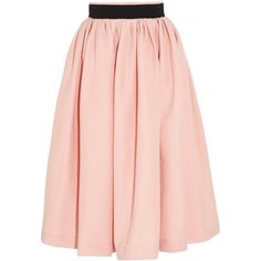 Preen by Thornton Bregazzi Everly pleated stretch-crepe skirt found on Polyvore