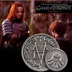 Game Of Thrones The coin Free shipping A Song of Ice and Fire Faceless Man Coin with gift bag movie jewelry