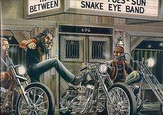 Easy Rider 1969 Movie Scene Canvas Art Print Wall Art
