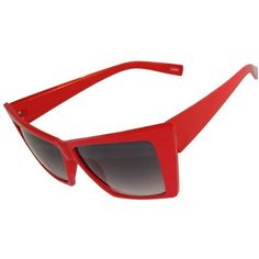 bfeb44b48d46 Angular Cat Eye Sunglasses In Red with Gradation Finish GirlPROPS.  6.00.  Save 70%