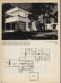 Art Deco or Moderne house design from Houses for Good Living, Royal Barry Wills. From the Association for Preservation Technology (APT) - Building Technology Heritage Library. Vintage House Plans, Modern House Plans, House Floor Plans, The Sims, Bauhaus, Casas Containers, Streamline Moderne, Architecture Plan, Pavilion Architecture