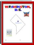 Washington DC -   Each state thematic unit is 13 pages. They offer information about the following: history, Capital, flag, tree, bird, flower, size, location, climate, topagraphy, industry, natural resources, waterways    The following pages are also included: questions, word uncramble, spelling, state map, add your own information, answers