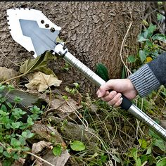 [Bio safe] Stainless Steel Garden Tools Folding Portable Hand Shovel Garden Outdoor Camping Trowel Outdoor Self Defense Tools #Affiliate