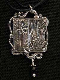 Garden pendant (Silver Clay Art)