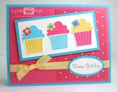 cup cake use birthday cake, create a critter, rock princess or wild card 2 cartridge
