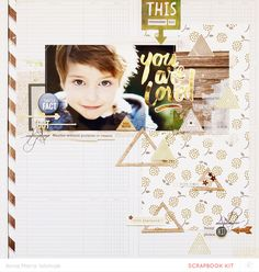 #papercraft #scrapbook #layout You are loved by ania-maria at @studio_calico