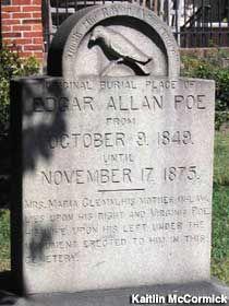 Edgar Allan Poe Grave in Baltimore, Maryland: