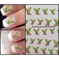 Cute Tinker Bell Nail Art Nail Water Decals Nail Transfers Wraps