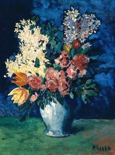 Pablo Picasso. Flowers 1901 http://stilllifequickheart.tumblr.com/tagged/still+life/page/569