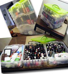 231 Creative and Easy DIY Nail Polish Storage Ideas - About-Ruth Nail Polish Storage, Diy Nail Polish, Nail Polish Colors, Diy Nails, Nail Polishes, Organizing Nail Polish, Nail Polish Organizer Case, Nail Art, Makeup Storage Organization