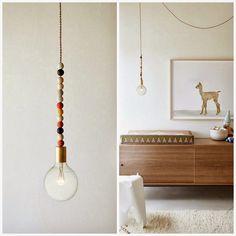 Un toque simple pero muy personal para el hogar... #bombillas #cabletextil