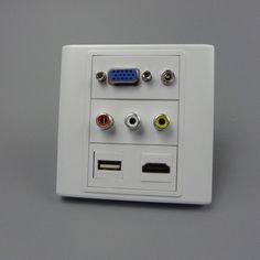 vga, hdmi 3.5mm audio, USB, 3RCA AV wall plate with back female to female connector support customer design
