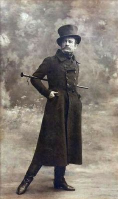 Dandy and his walking stick, 1800s