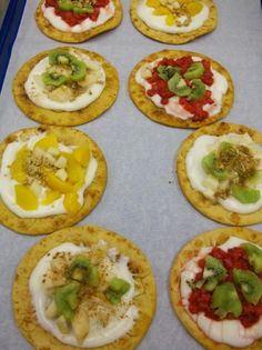 Fruity flatbreads made with fresh fruit and yogurt from Hoover City School Distict, AL.