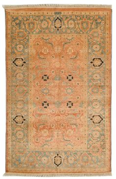 P280A Rug from Peshawar collection. Styled with an eye on the artistry of Peshawar rug makers and steeped in vibrant colors and period motifs, these superb carpets are timeless classics. Ancient dying techniques add signature characteristics while the hand-knotted wool pile is made using the finest, high lanolin wool yarn for an heirloom look and feel. A splendid centerpiece rug for the great room, elegant living room or executive business offices.