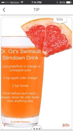 Swimsuit Slim Down Drink! Get Your Bikini Body Fast With This Drink! @Stephanie Close Close Close Murray