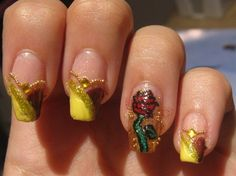 Belle beauty and the beast nails