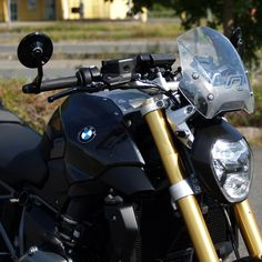 Kellermann Lenkerendenblinker und HighSider Lenkerendenspiegel für BMW R 1200 R LC
