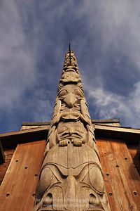 Bill Reid Totem Pole in Skidegate Haida Gwaii Islands  - Nature Stock Image by Professional Nature Photographer Christina Craft